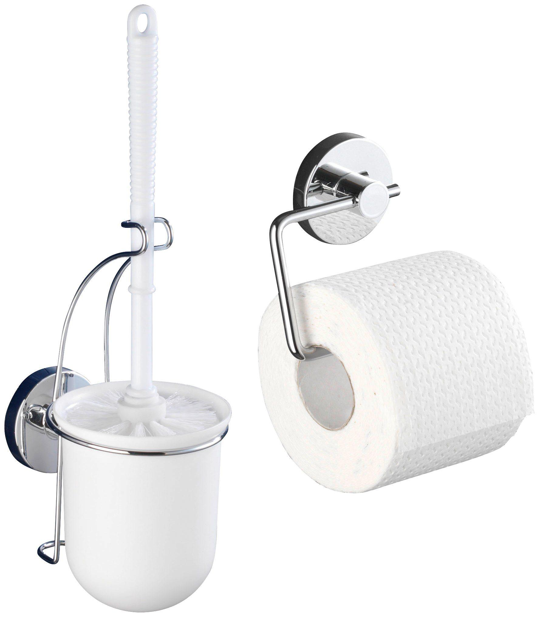 WENKO WC-Garnitur »Vacuum-Loc Milazzo 2er Set«, Befestigen ohne bohren