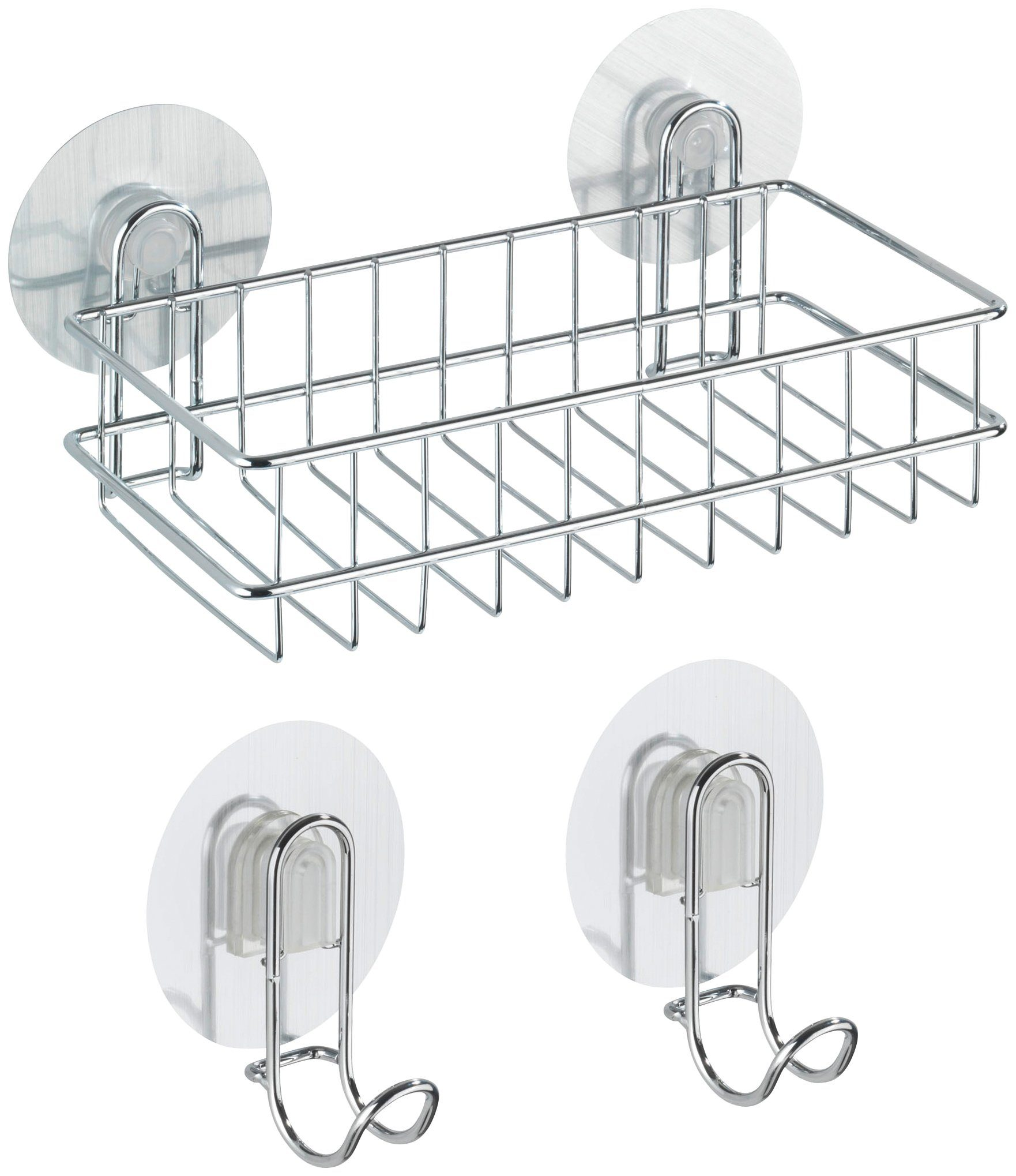 WENKO Duschablage »Osimo«, 3-teiliges Set, Static-Loc