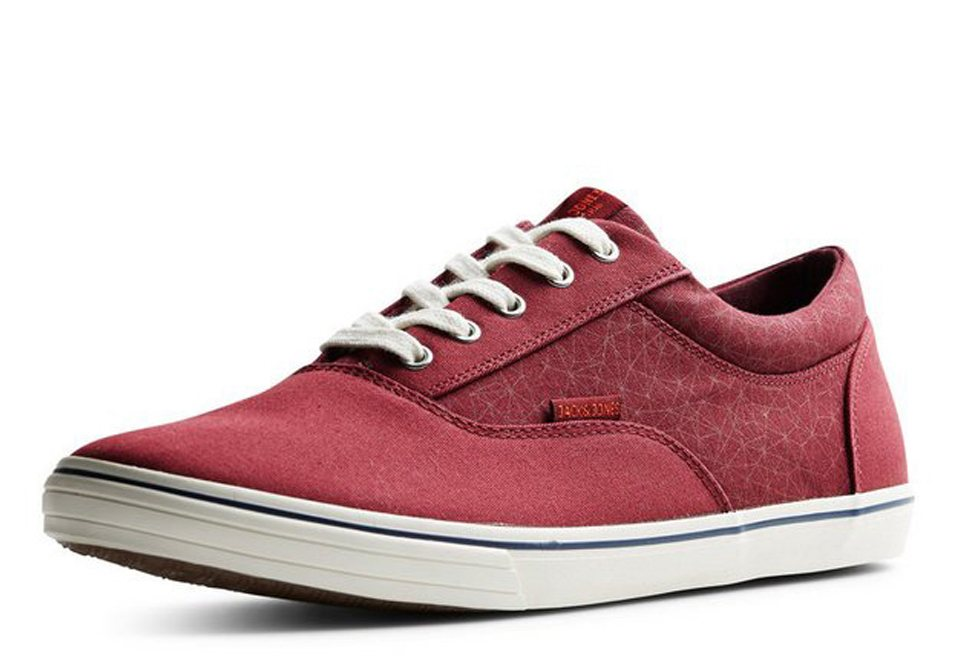 Jack & Jones Leinen- Schuhe in Cabernet