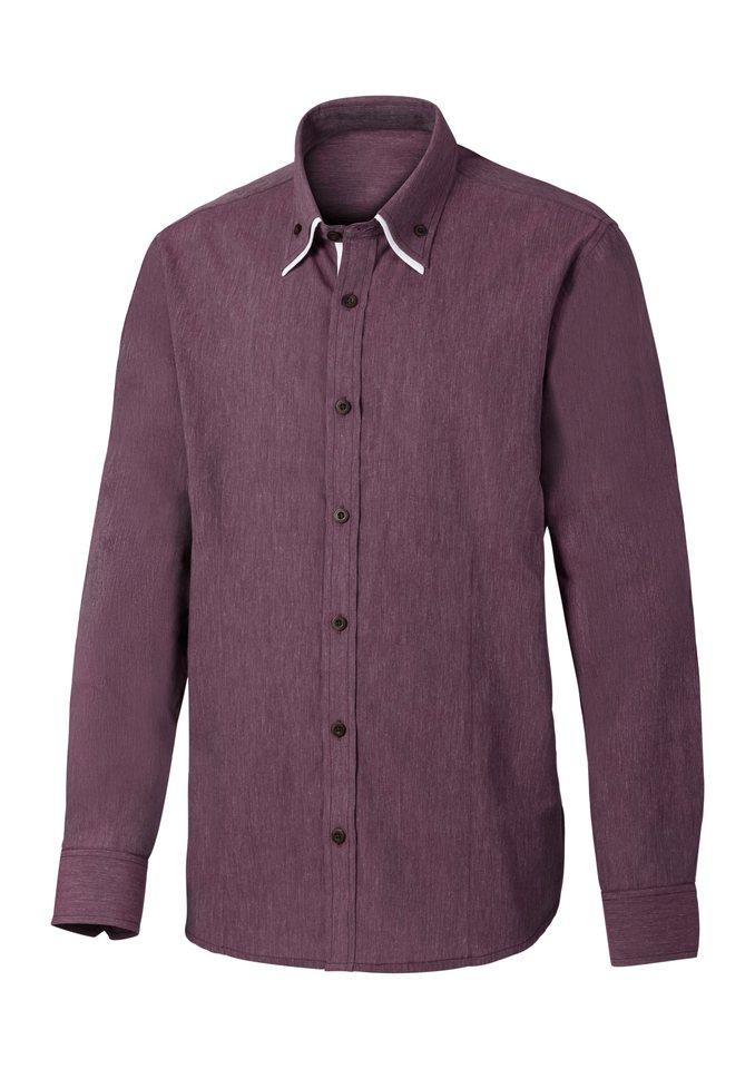 Marco Donati Langarm-Hemd in bordeaux