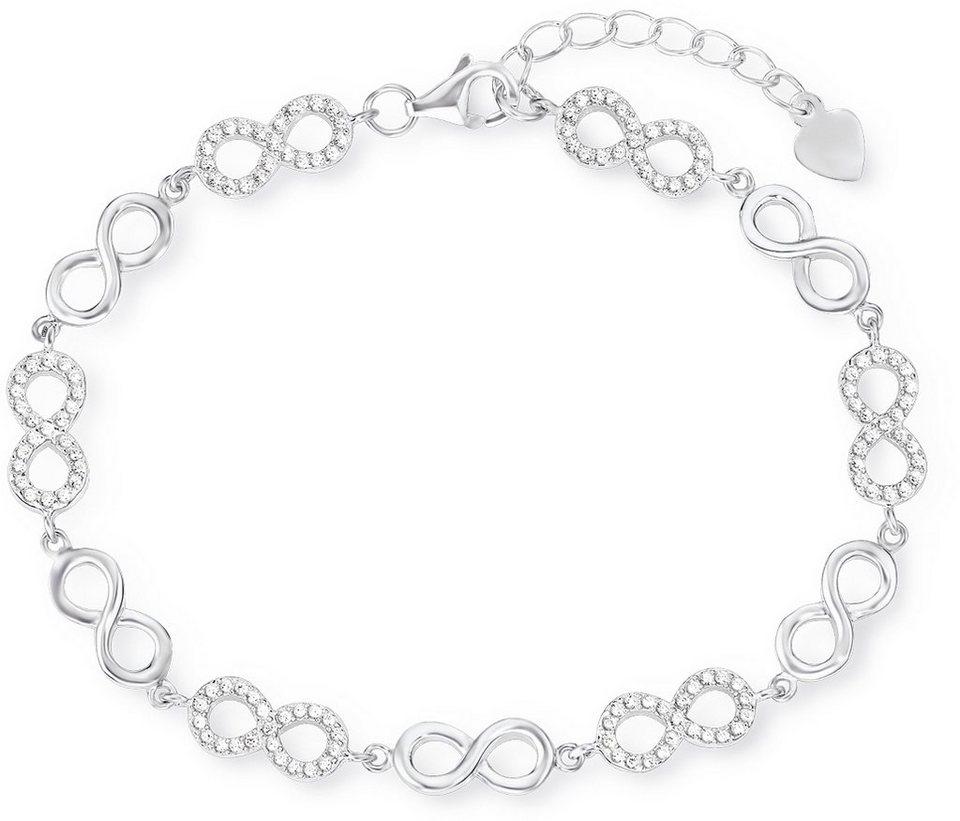 Amor Armband mit Zirkonia, »Unendlichkeit, E107/4, 537223« in Silber 925