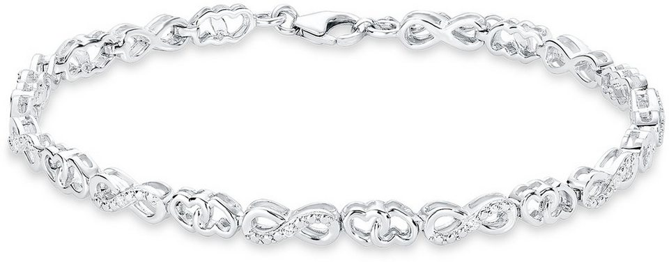 Silber armband  Amor Silberarmband »Herzen / Infinity / Unendlichkeit«, mit ...