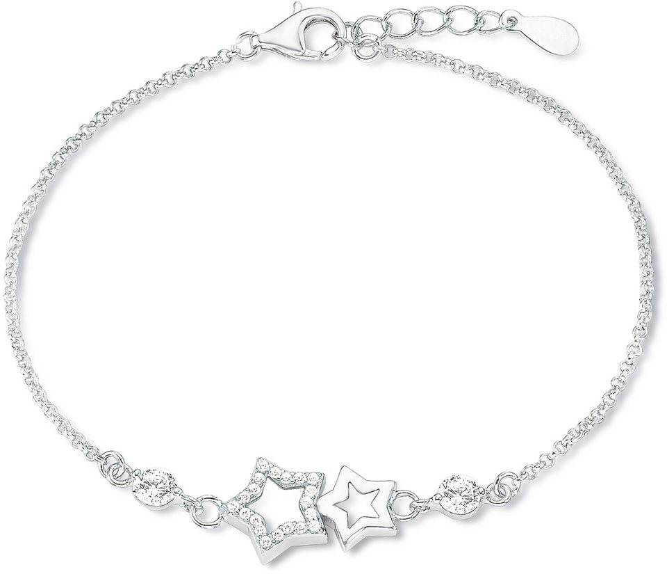 Amor Armband mit Zirkonia, »Sterne, E106/5, 539234« in Silber 925