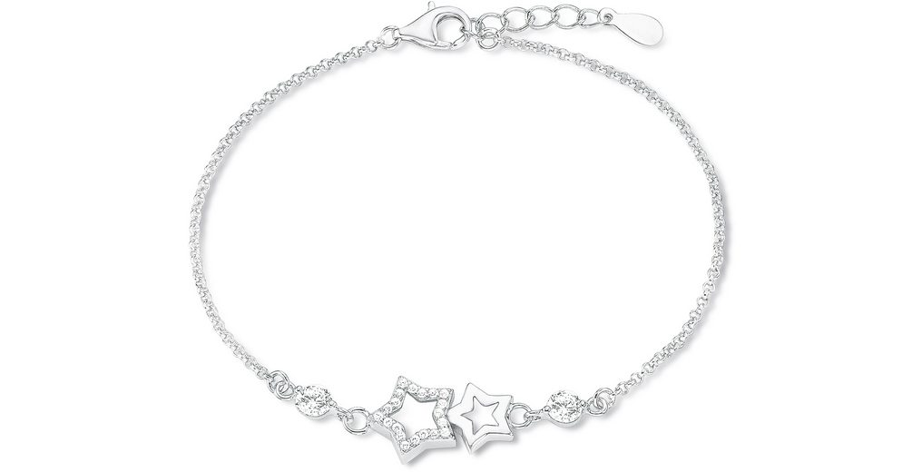 Amor Armband mit Zirkonia, »Sterne, E106/5, 539234«