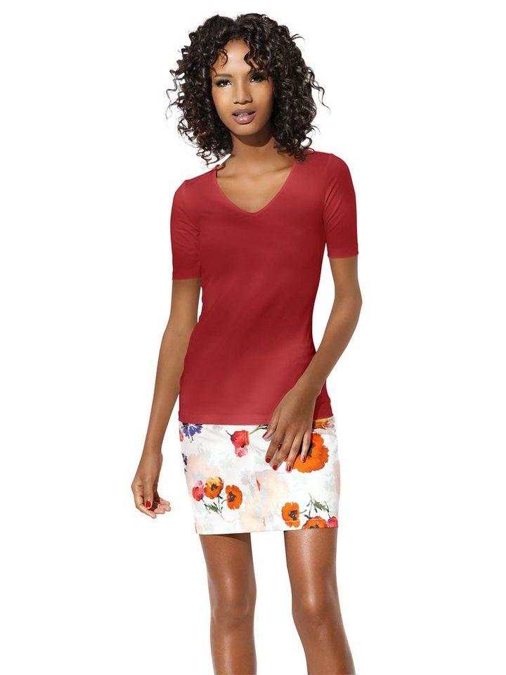 Bodyform-V-Shirt in rot