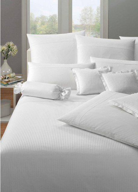 Bettwäsche »Milano«  Elegante  mit feinen Streifen   Heimtextilien > Bettwäsche und Laken > Bettwäsche-Garnituren   Weiß   Baumwolle   Elegante