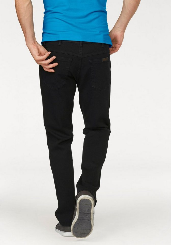 Wrangler Stretch-Jeans Regular Fit in black-black