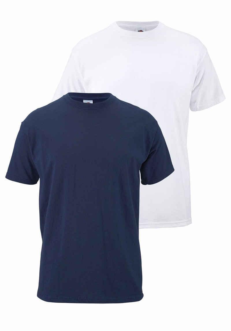 Fruit of the Loom T-Shirt (Packung, 2-tlg) aus reiner Baumwolle