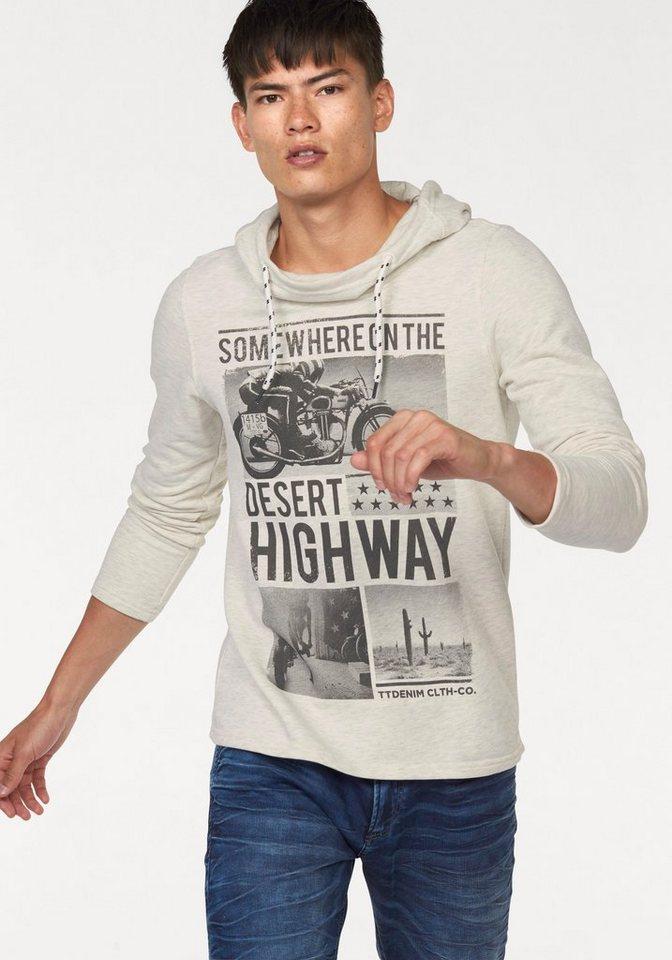 Tom Tailor Denim Kapuzensweatshirt »Desert Highway« in beige