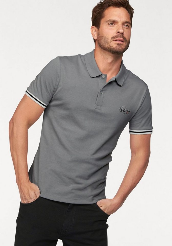 Lacoste Poloshirt Pique-Qualität in grau