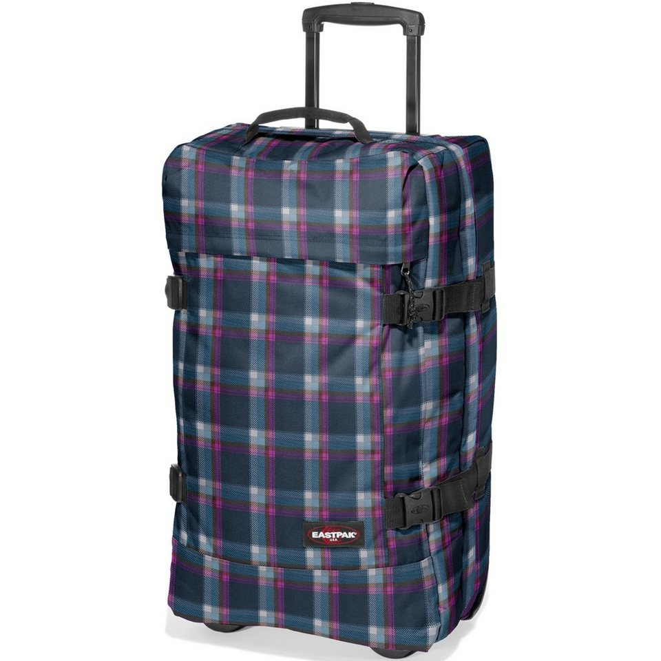 Eastpak Authentic Collection Tranverz M Double-Deck 2-Rollen Reisetasche in checked pink