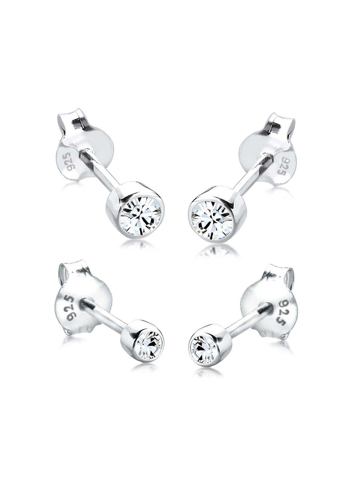 Elli Ohrringe »Set Swarovski® Kristalle Basic Silber«