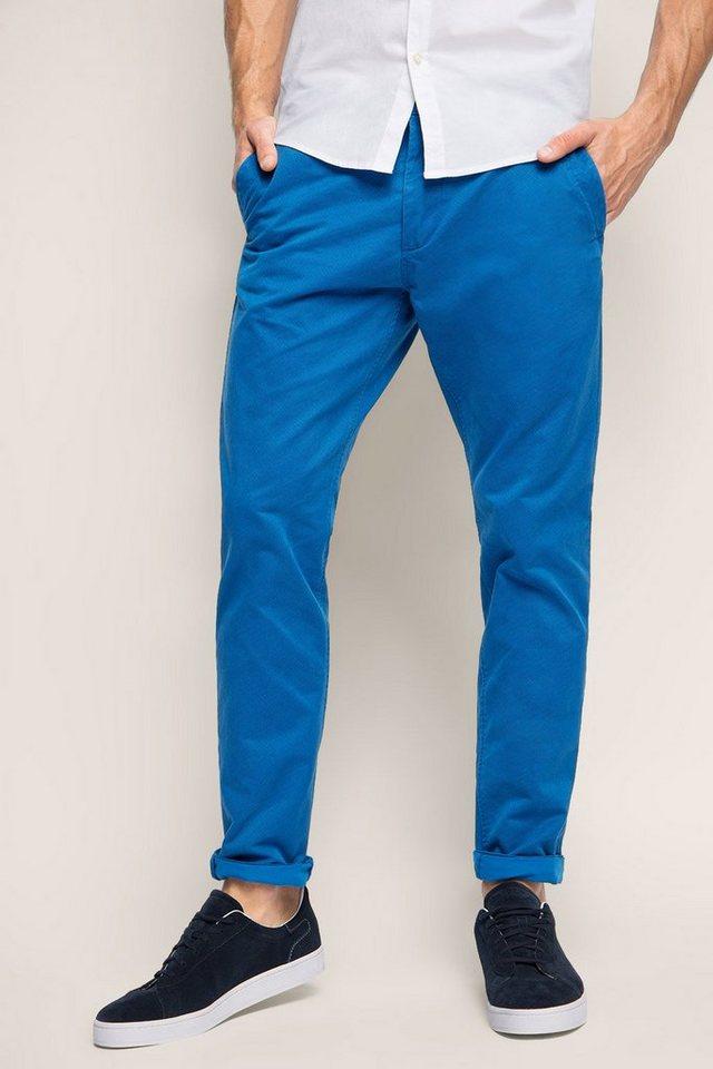 ESPRIT CASUAL Chino mit Allover-Print, 100% Baumwolle in DARK BLUE