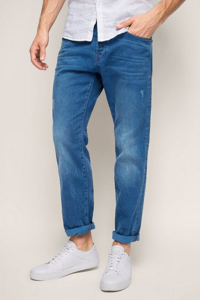ESPRIT CASUAL Used-Jeans aus kernigem Stretch-Denim in BLUE MEDIUM WASHED