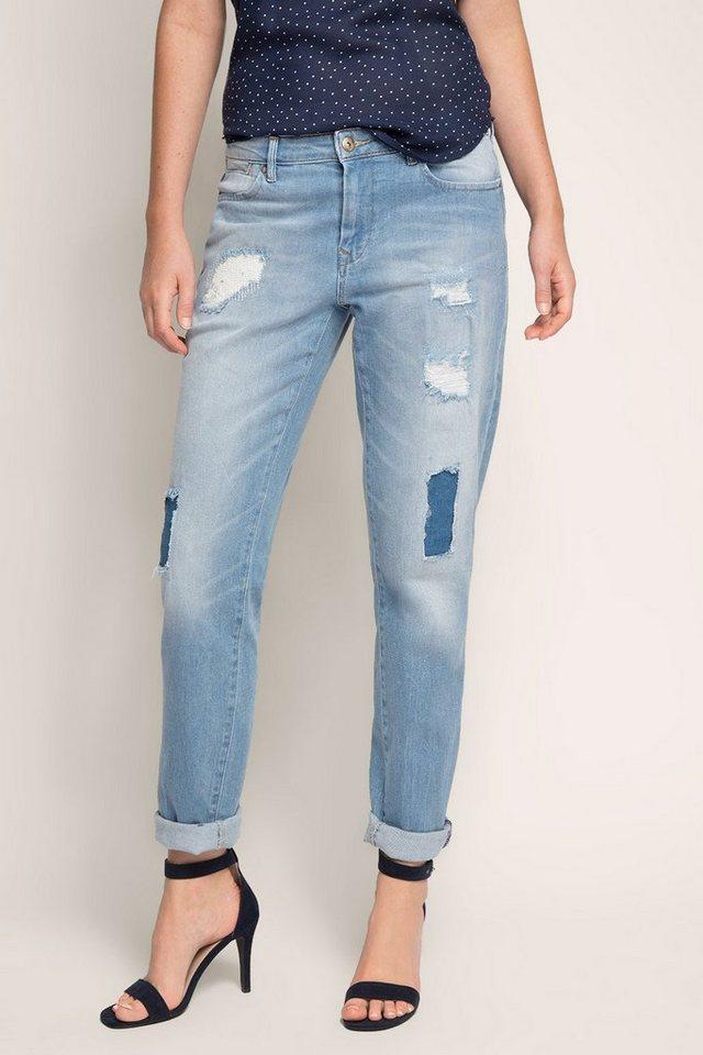 edc boyfriend jeans im destroyed look kaufen otto. Black Bedroom Furniture Sets. Home Design Ideas