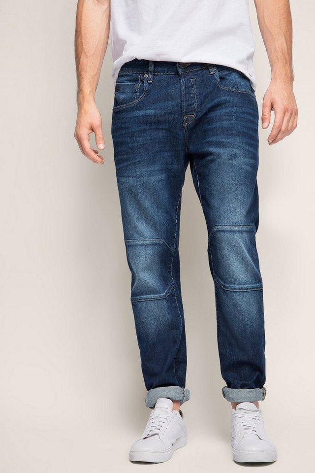 ESPRIT CASUAL Stretch-Jeans mit Teilungsnähten in BLUE MEDIUM WASHED