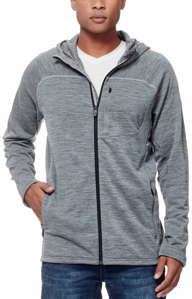 Icebreaker Pullover »Mt Elliot LS Hood Men« in grau