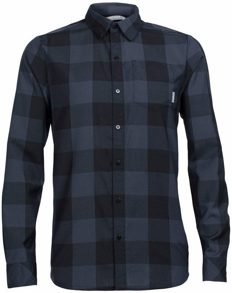 Icebreaker Hemd »Departure II LS Shirt Men Plaid« in schwarz