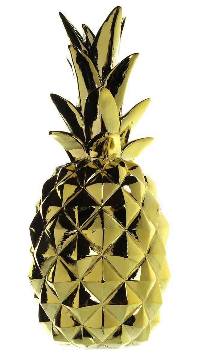 Kasper-Wohndesign Deko Skulptur verschiedene Größen »Goldene Ananas«