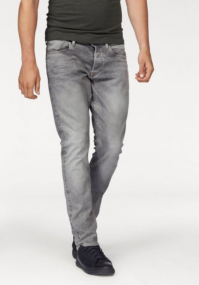 G-Star Tapered-fit-Jeans »3301 Tapered« in medium-light-aged