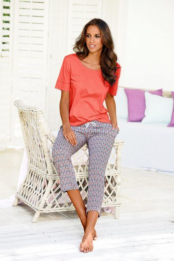 LASCANA 7/8-Pyjamahose Lou mit Alloverprint
