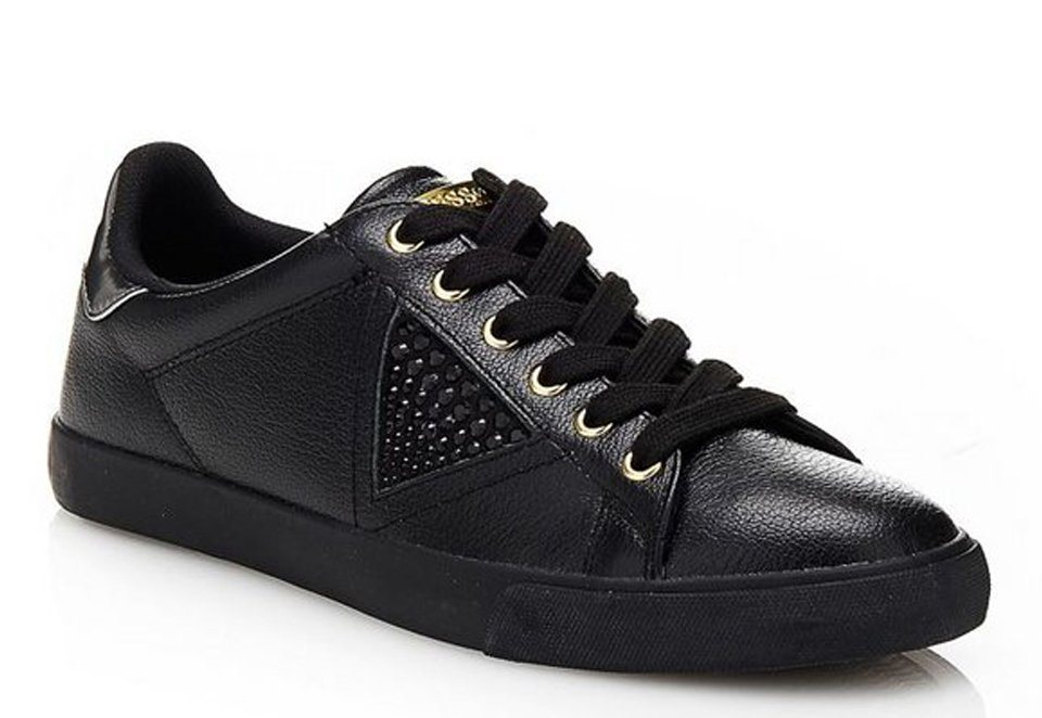 Guess SNEAKER MARLINE AUS LEDER in Noir