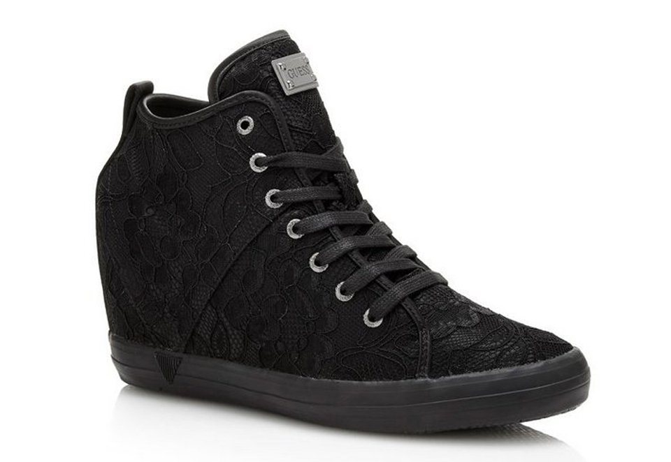 Guess SNEAKER-WEDGES JILLY SPITZE in Schwarz
