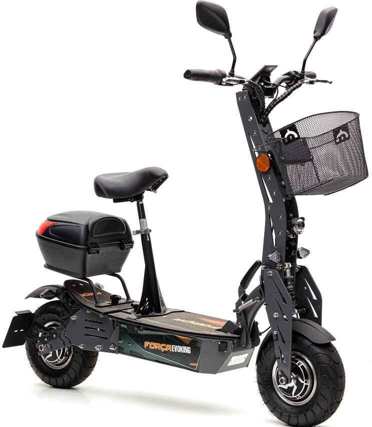 Forca E-Scooter »Evoking Duo 45 km/h Safety Plus (inkl. Lithium-Akku)«, 2000 W, 45 km/h