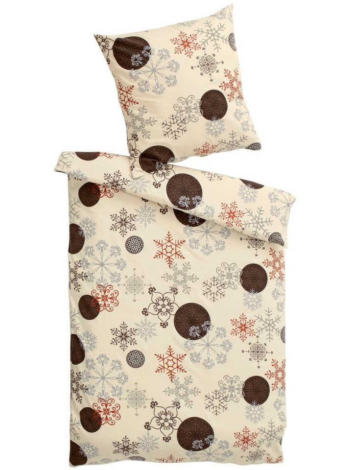 Designer-Bettwäsche in weiß/braun
