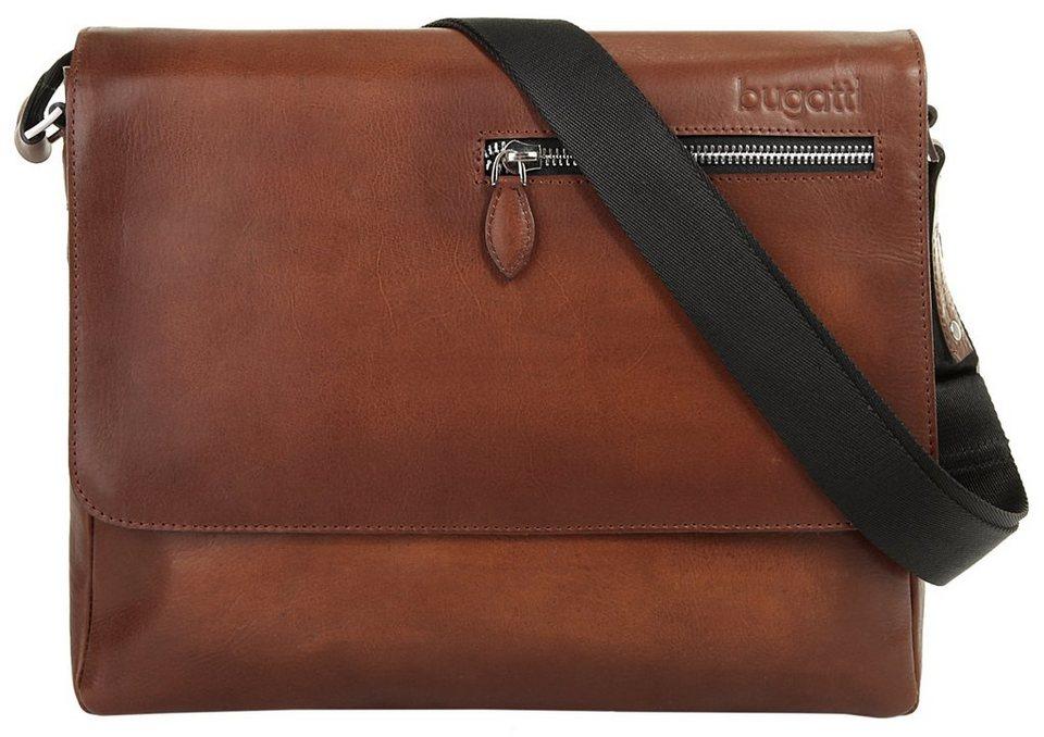 Bugatti Leder Messenger Tasche »Domus« in braun