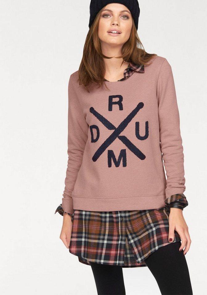 Only Sweatshirt »CILLE« mit Applikation vorn in rosé