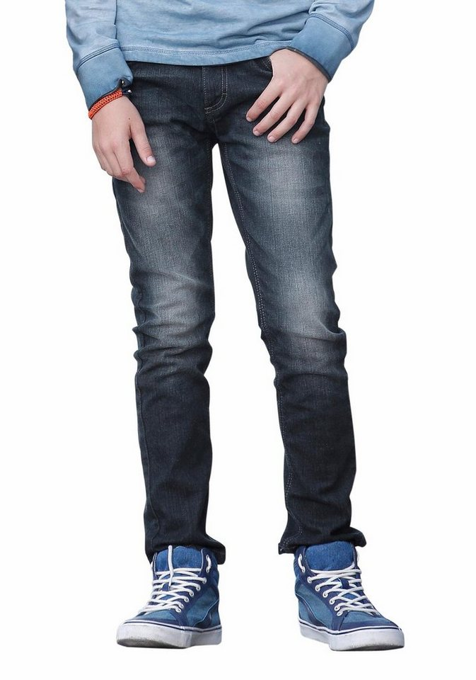 Arizona Stretch-Jeans Regular-fit mit schmalem Bein in dark-denim