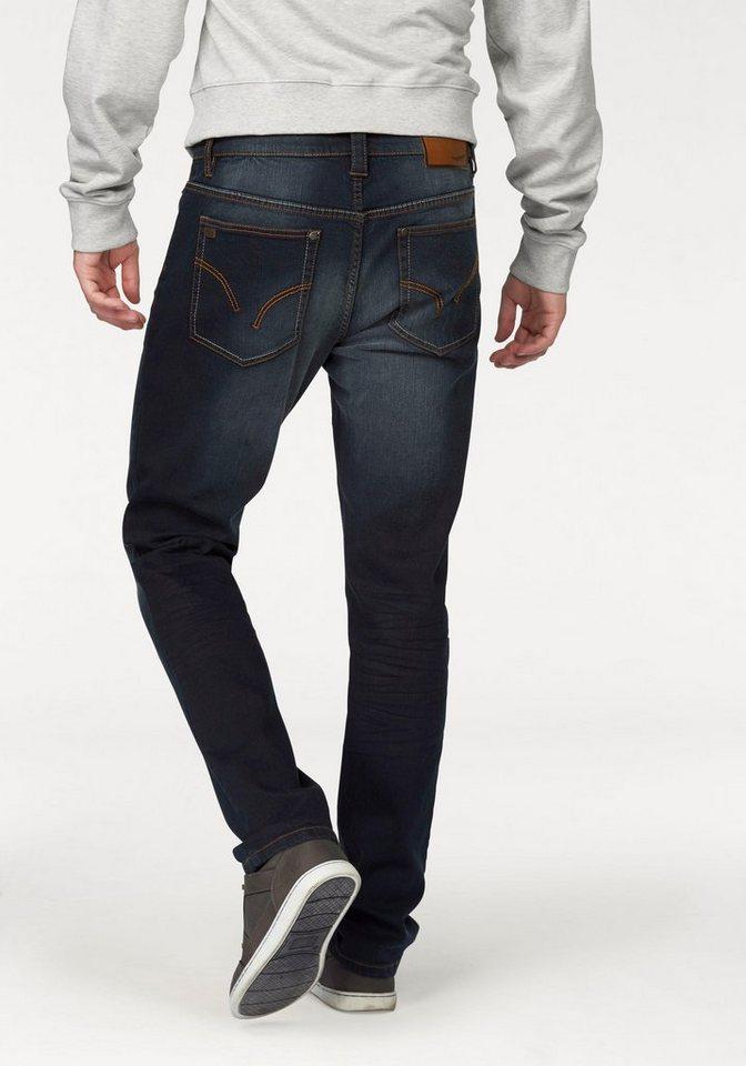Arizona Stretch-Jeans »Mason« mit schmalerem Beinverlauf in grey-blue-used