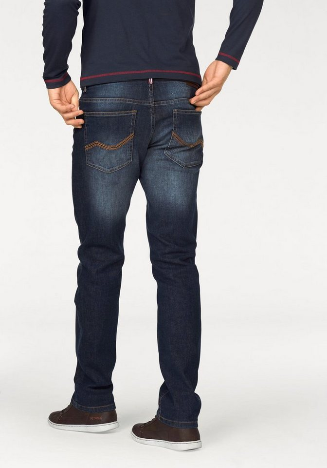 Rhode Island Stretch-Jeans »Reed« in darkblue-used