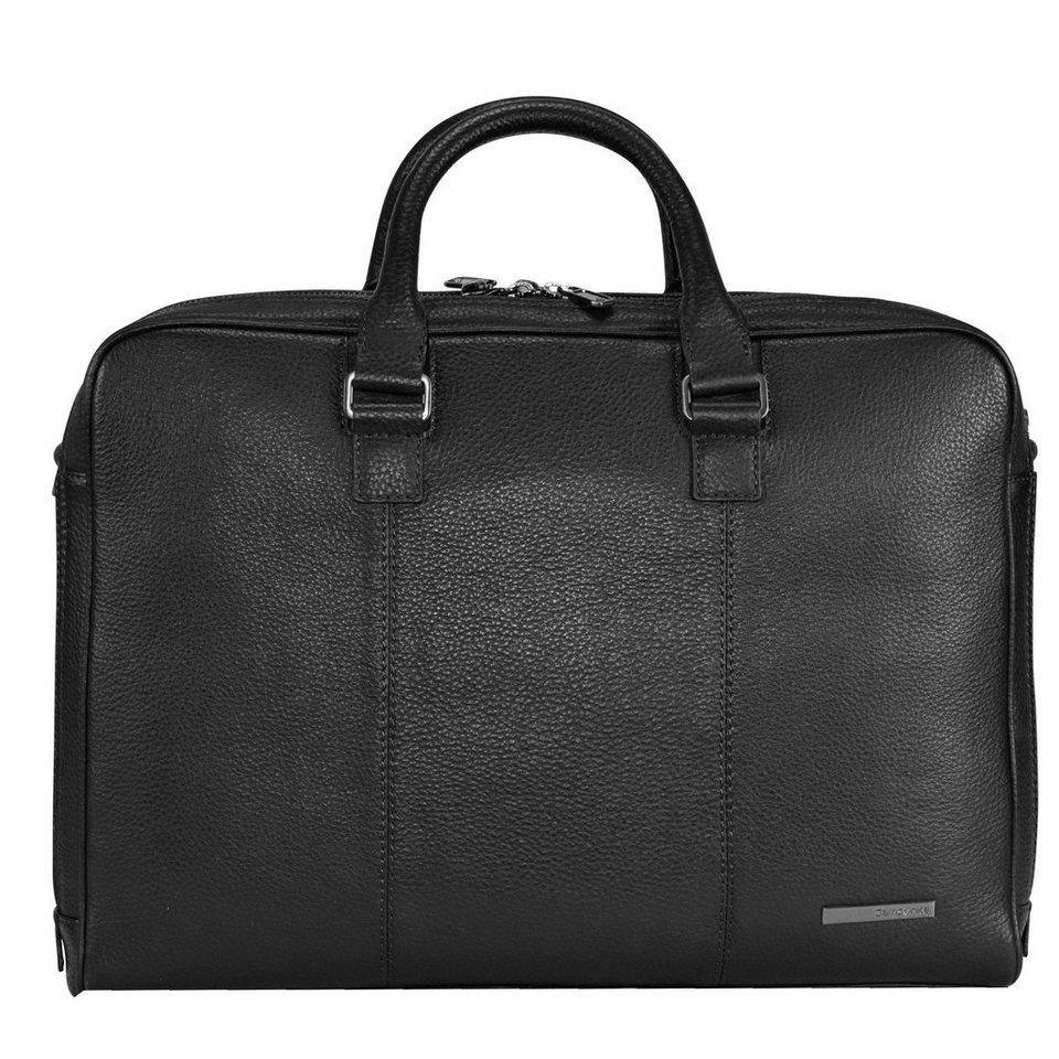 Samsonite Equinox Aktentasche Leder 42 cm Laptopfach in black