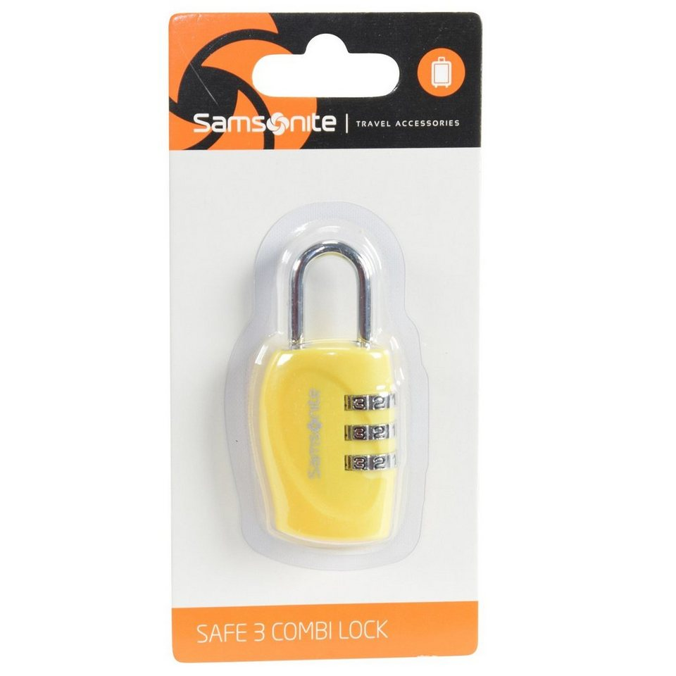 Samsonite Samsonite Accessories Reise-Sicherheit Vorhängeschloss 2,5 cm in yellow