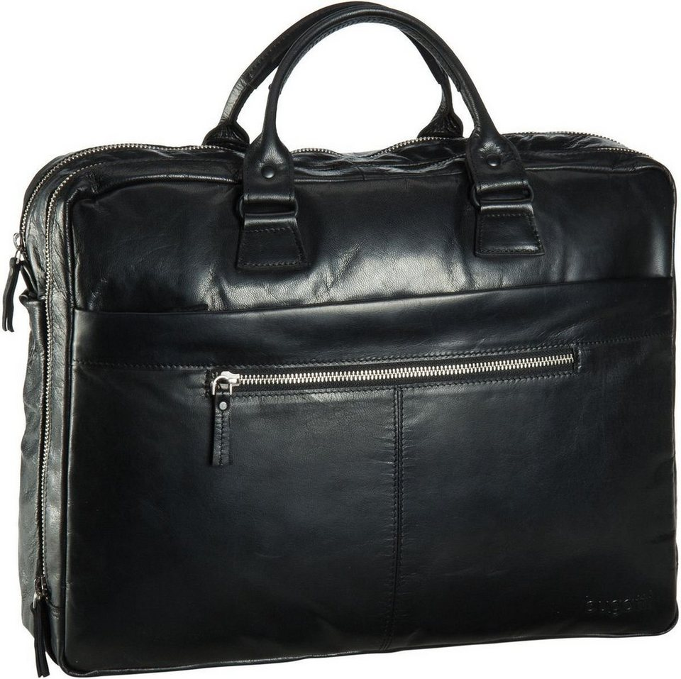 Bugatti Vita Brief Bag Large in Schwarz