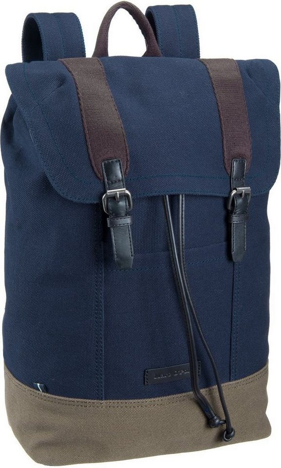 Marc O'Polo Finn Backpack L in Navy/Khaki