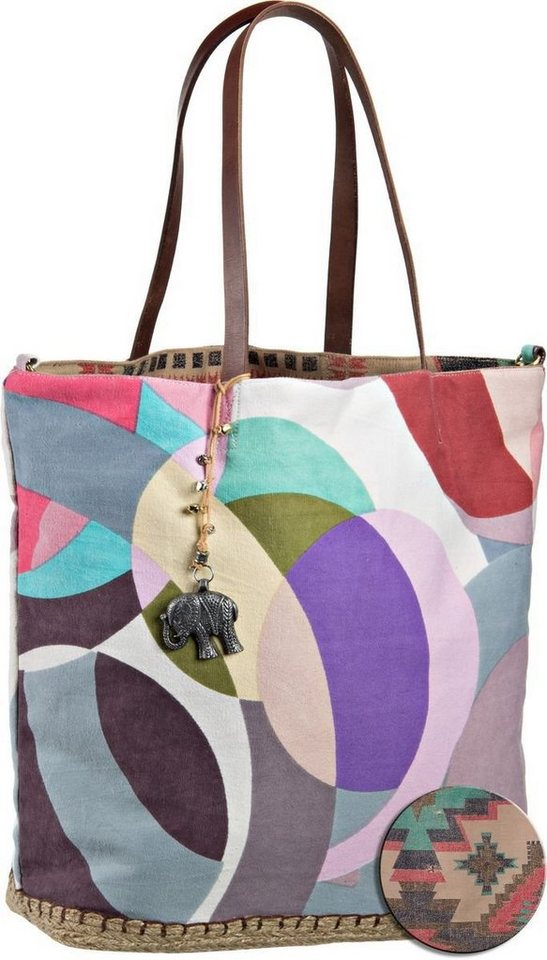Anokhi Canvas Shopper Small Espadrilles in Wassily