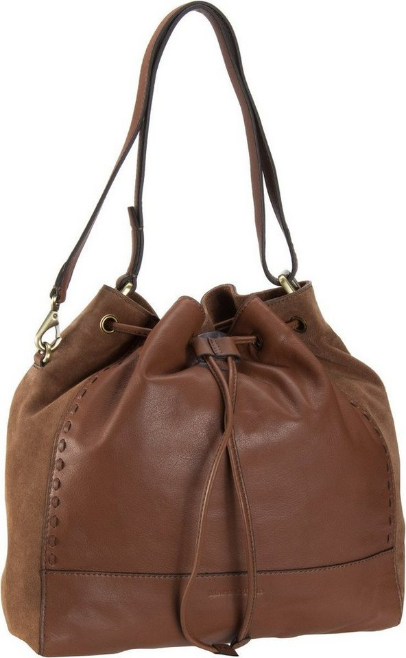 Marc O'Polo Lara Drawstring Bag M in Cognac
