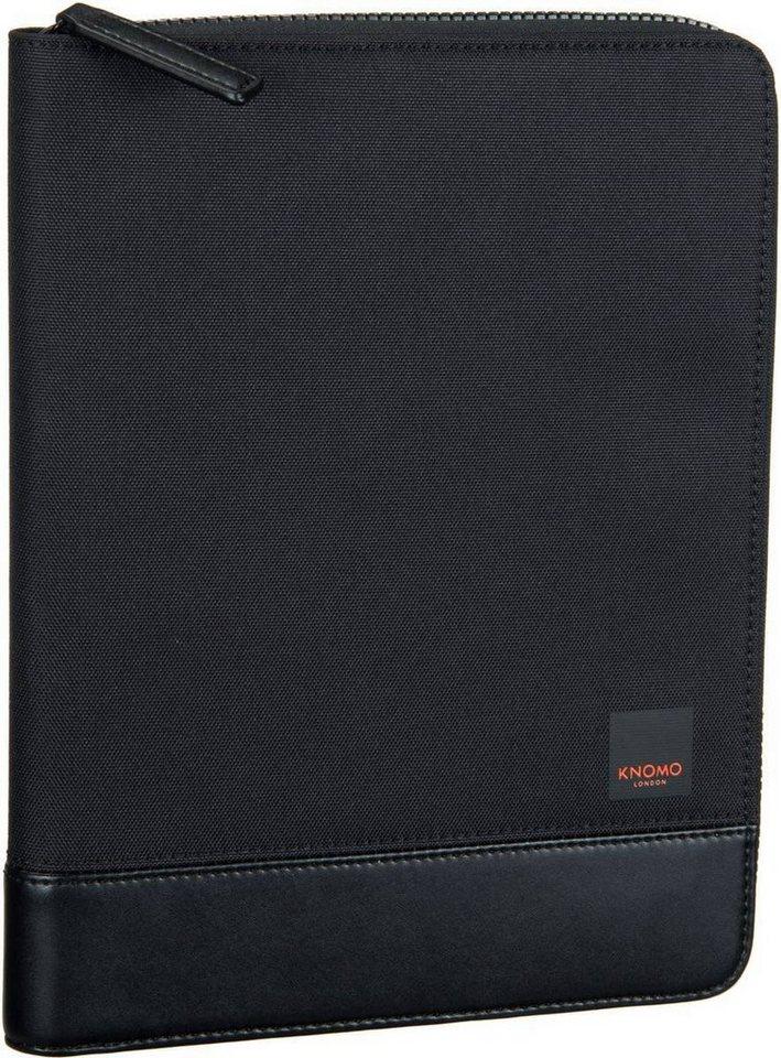 knomo Shoreditch Knomad Zip Folio Organizer in Black