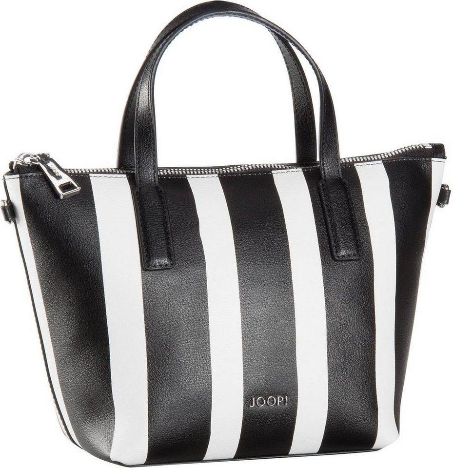 Joop Helena Stripe Print Handbag Small in Black