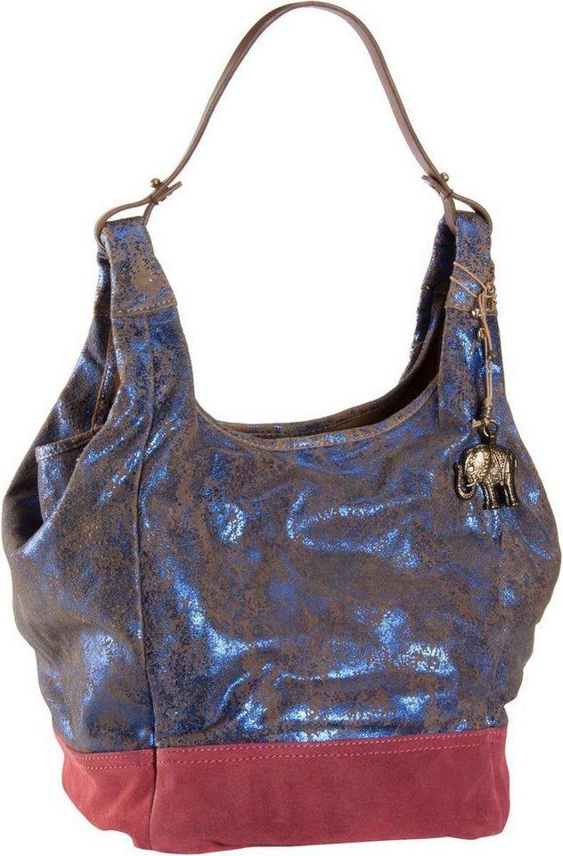 Anokhi Cheyenne Suede Metallic in Blue Metallic