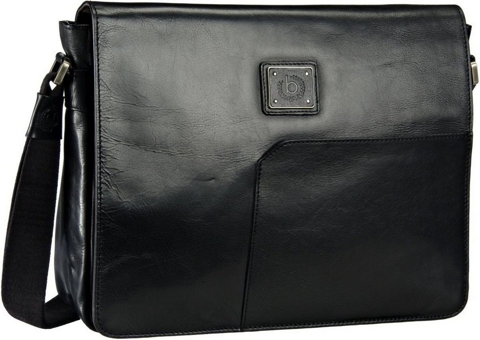 Bugatti Tocco Messenger Bag Medium in Schwarz