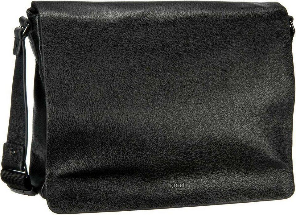 Joop Doros Cross Grain Flap Bag Large in Black