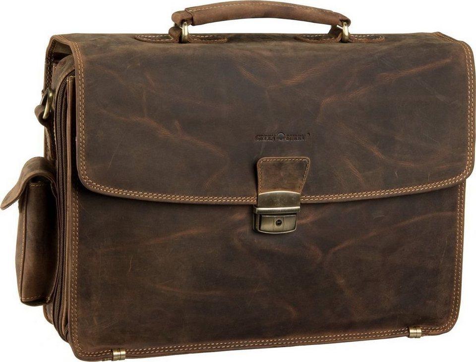 Greenburry Vintage Laptop Tasche in Sattelbraun