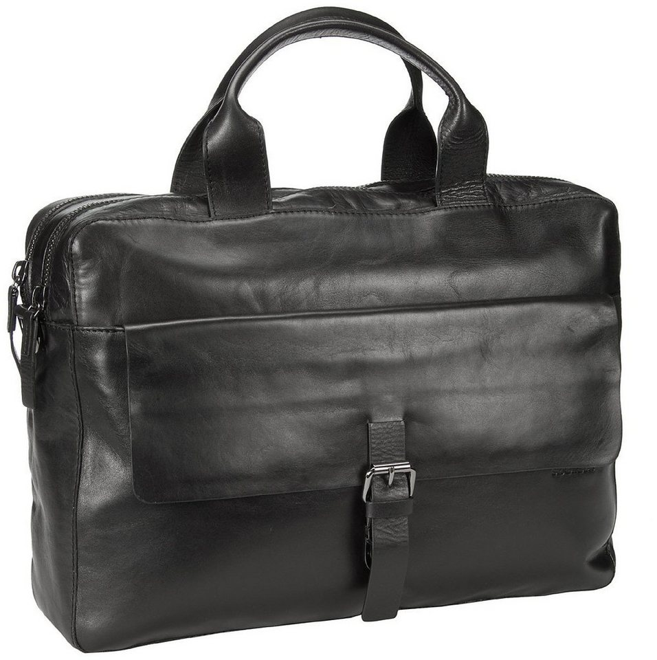 Strellson Scott Soft Briefcase in Black