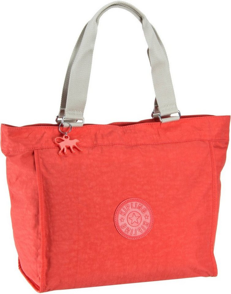 Kipling New Shopper L in Coral Rose