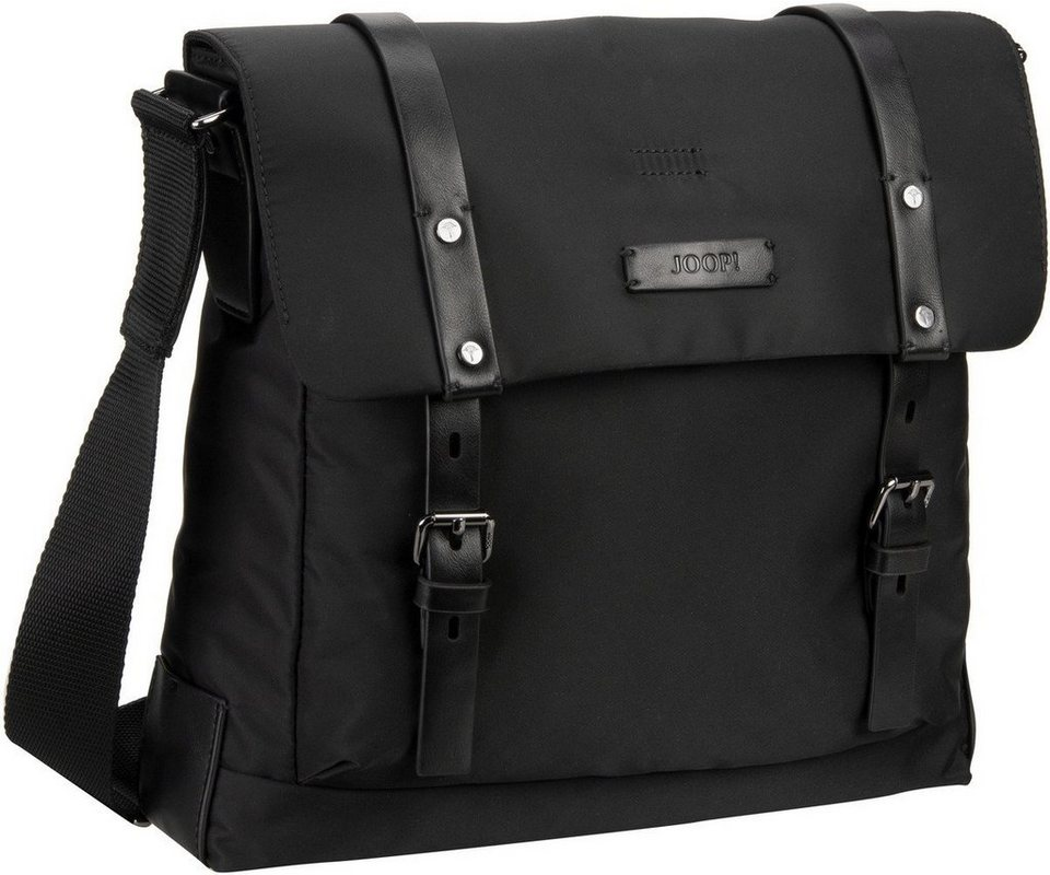 Joop Belos Nylon Flap Bag Medium in Black