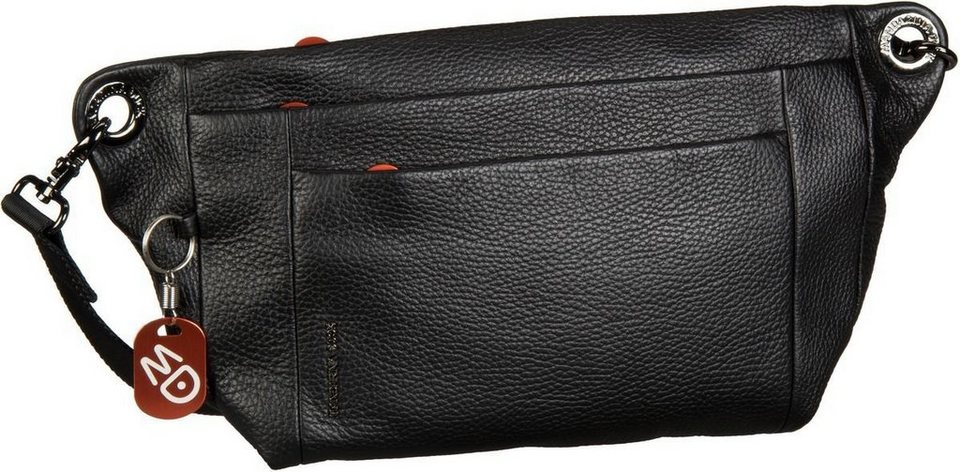 Mandarina Duck Mellow Leather Burn Bag in Black
